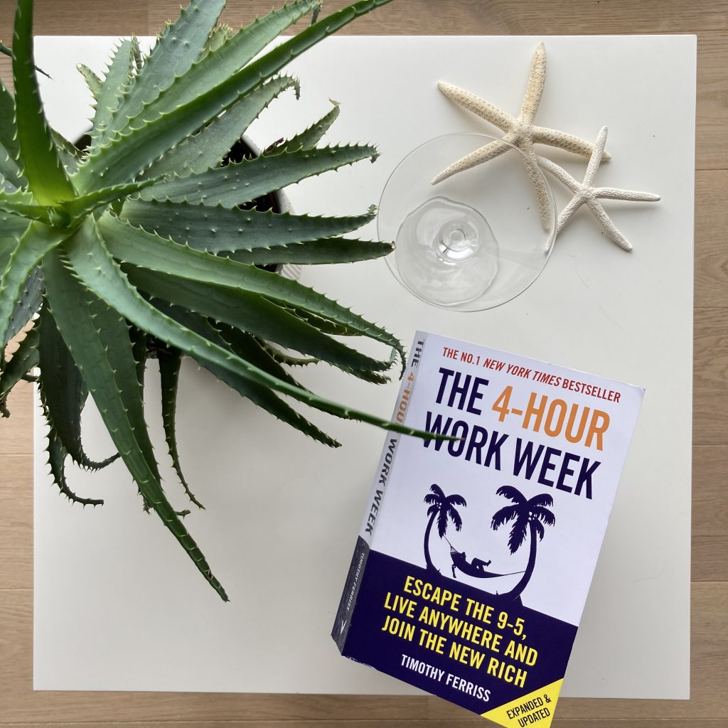 picture of the 4-hour work week on a side table