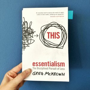 picture of the cover of the book essentialsm by greg mckeown